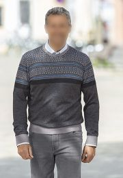 He. Jacquard Pullover