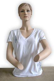 T-Shirts  Mit Arm ,Weiss