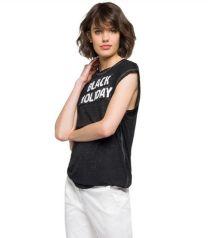 T-Shirt, Kurzarm,Black