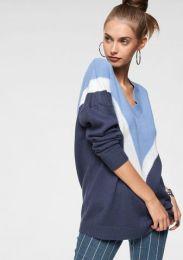 Pullover V Colorblocking
