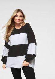 Block Streifen Pullover Oversized