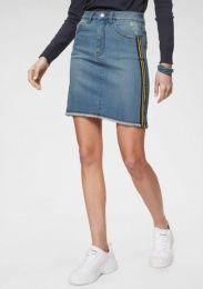 Jeans Rock Streifen