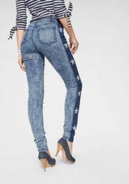 Jeans Mit Printed Stars