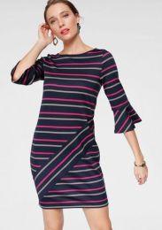 Kleid Karree Gestreift