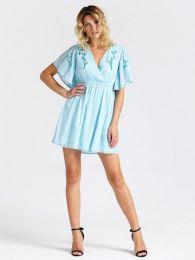 A-Linien-Kleid,Himmelblau