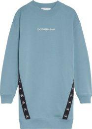 Monogram Tape Sweatshirt Dress