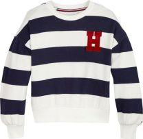 Rugby Stripe Crew Sweatshirt