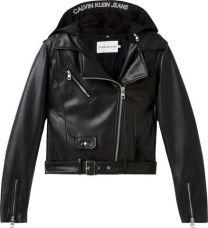 Blazer Faux Leather Jack