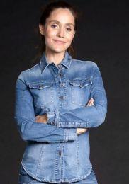 Damen-Jeansbluse