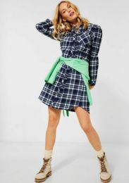 Woven Check Dress