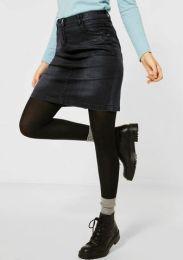 Denim Skirt Black Coated