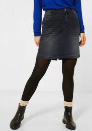 Denim-Skirt Black