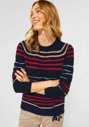 Pullover Striped Structu