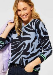 Zebra Jaquard Pullover
