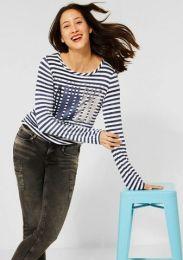 Stripe Partprint Shirt