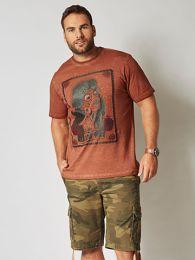 He. T-Shirt Oil Wash