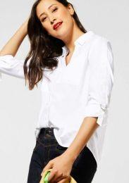 Cotton Shirtcollar Blous