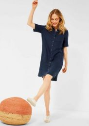 Linen_Polo Dress Solid