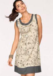 Kleid Mit Blende